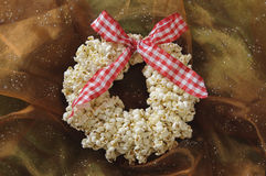 Popcorn Christmas Wreath Royalty Free Stock Photo