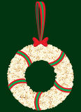 Popcorn Christmas Wreath Illustration Royalty Free Stock Image