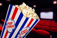 Popcorn at the cinema Royalty Free Stock Photos