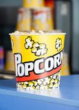 Popcorn On Cinema Concession Counter Stock Images