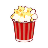 Popcorn. Cinema Icon on White Background. Vector Stock Image