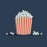 Popcorn. Cinema tv popcorn icon vector Royalty Free Stock Photography