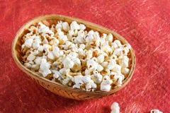 Popcorn in ciotola Fotografie Stock