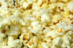 Popcorn Close-up. A close-up of popped popcorn royalty free stock photos
