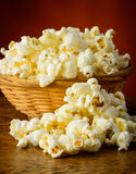 Popcorn closeup Stock Images