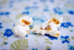 Popcorn closeup, healthy homemade snack royalty free stock image