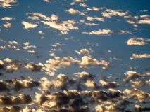 Sunset Popcorn Clouds Royalty Free Stock Images
