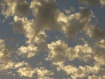 Popcorn Clouds Stock Photography