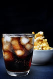 Popcorn and cola Stock Images