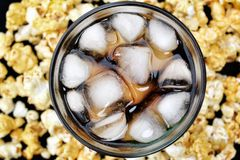 Popcorn and cola Royalty Free Stock Images