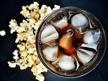 Popcorn and cola Stock Image