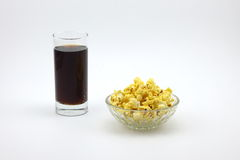 Popcorn and cola Royalty Free Stock Photos