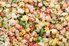 Popcorn colorato del dolce del fondo di struttura del popcorn Fotografia Stock Libera da Diritti