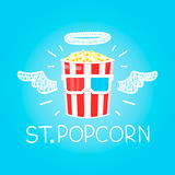 Popcorn concept Royalty Free Stock Images