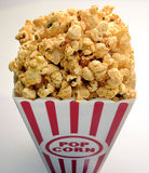 Popcorn. In container mark movie writing Stock Photography