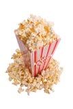 Popcorn in contenitore Fotografie Stock
