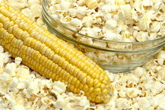 Popcorn and corn Royalty Free Stock Photo