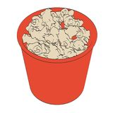 Popcorn in cup Stock Images