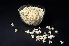 Popcorn on dark background Stock Photography