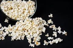 Popcorn on dark background Stock Image