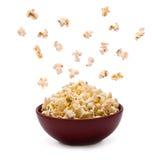 Popcorn in de Kom Royalty-vrije Stock Afbeeldingen