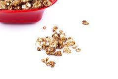Popcorn del cioccolato Fotografia Stock