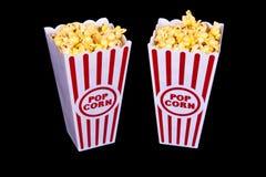 Popcorn del teatro per due Fotografia Stock Libera da Diritti
