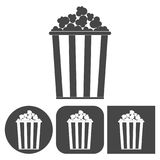 Popcorn design - vector icons set. Vector icon Royalty Free Stock Photography