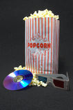 Popcorn di film Immagine Stock