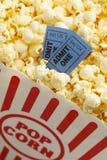 Popcorn di film fotografia stock