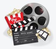 Popcorn di Hollywood di film illustrazione di stock