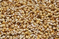 Popcorn di microonda dietro il vetro Immagini Stock Libere da Diritti