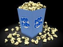Popcorn in doos Stock Afbeelding