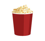 Popcorn. Drawing of a bucket with popcorn vector illustration
