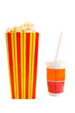 PopCorn and Drink Stock Photos