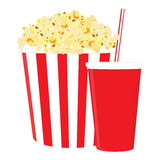 Popcorn and drink Royalty Free Stock Photography