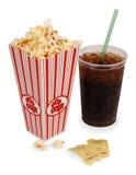 Popcorn e film Fotografia Stock Libera da Diritti