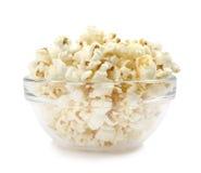 Popcorn in een schotel Stock Afbeelding