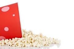 Popcorn in einer Wanne Lizenzfreie Stockfotografie