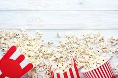 Popcorn in emmers Royalty-vrije Stock Fotografie
