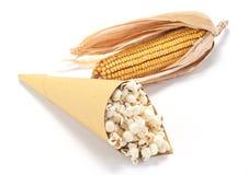 Popcorn en graan Royalty-vrije Stock Fotografie