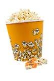 Popcorn en kaartjes stock afbeelding