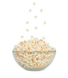 Popcorn falling in a bowl Royalty Free Stock Photo