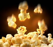 Popcorn falling down Stock Photos