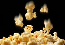 Popcorn falling down Royalty Free Stock Photos