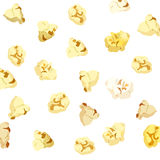 Popcorn falling on white background Stock Images