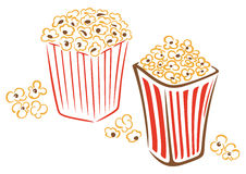Popcorn, fast food, cinema Royalty Free Stock Photography