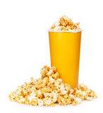Popcorn in fast food drink cup Stock Photo