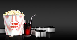 Popcorn and fast food drink. 3Drendering Stock Photography