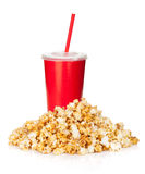 Popcorn and fast food drink Royalty Free Stock Image